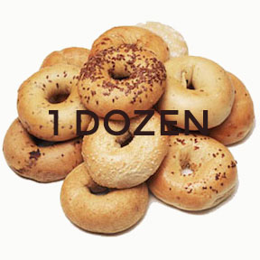 One Dozen Assorted Bagels